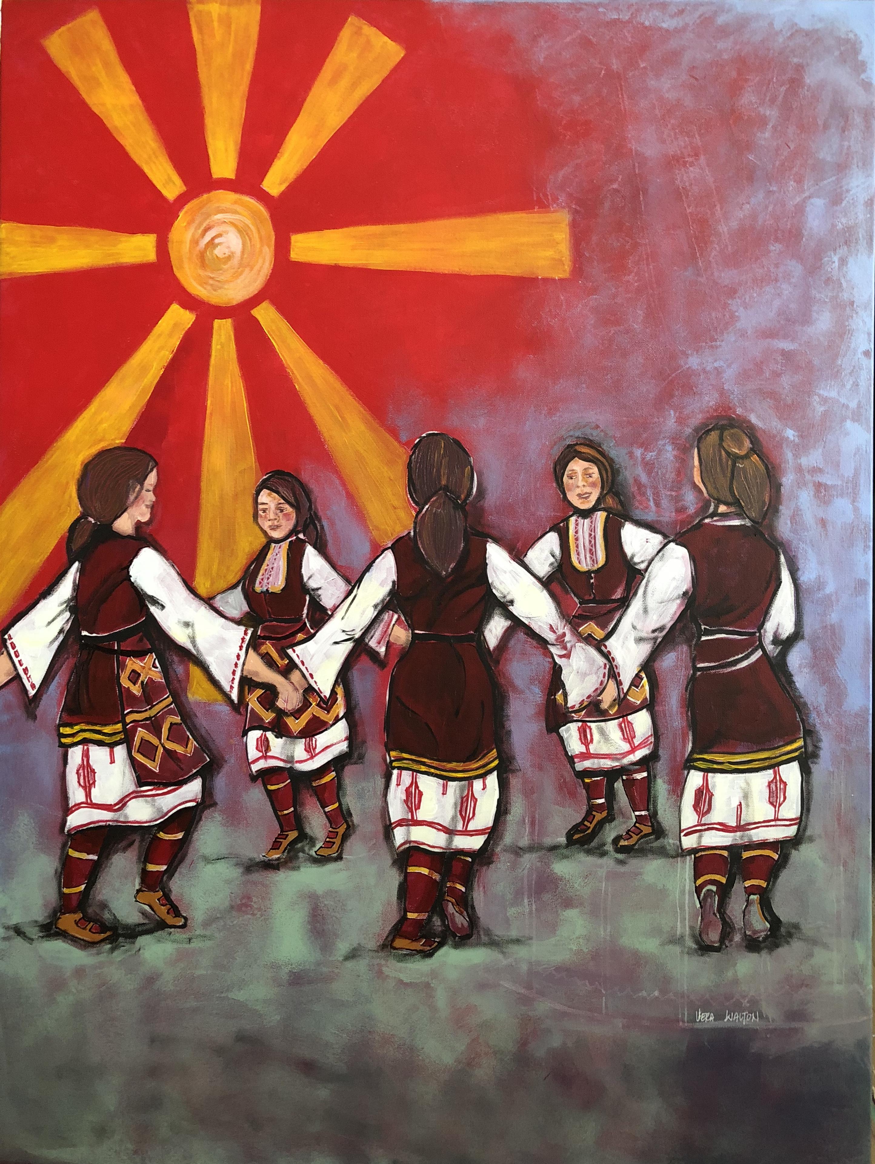 Macedonian girls dancing